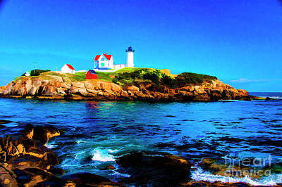 Photograph - Nubble Rock by Rick Bragan