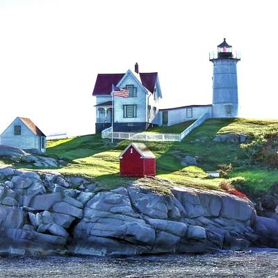 Photograph - Nubble Square by Jenny Hudson