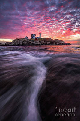 Photograph - Nubble Sunrise by Benjamin Williamson