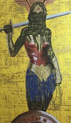 Mixed Media - Nubia On Guard by Rufus Royster