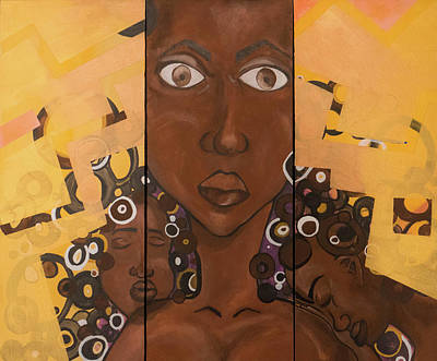 Painting - Nubian 3 by Ginnefine