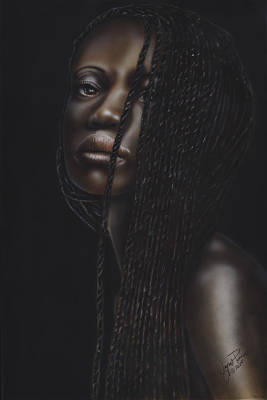 Dakota Painting - Nubian Beauty by Wayne Pruse