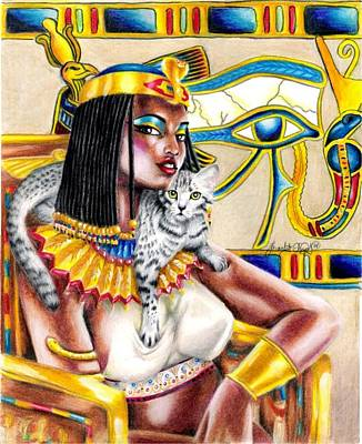 Horus Drawing - Nubian Queen by Scarlett Royal