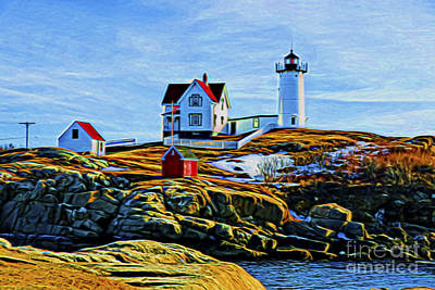 Photograph - Nuble Lighthouse Glow by Rick Bragan