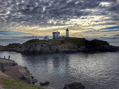 Photograph - Nuble Lighthouse York Maine by Anne Sands