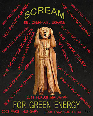 Social Movements Mixed Media - Nuclear Energy by Eric Kempson