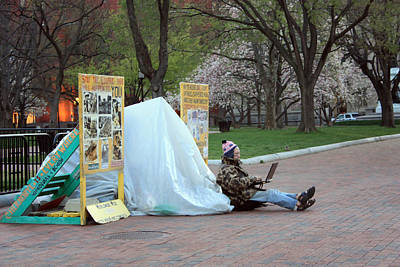 Photograph - Nuclear Protester by Mary Haber