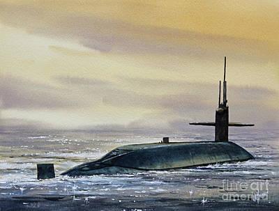 Nuclear Submarine Art Print