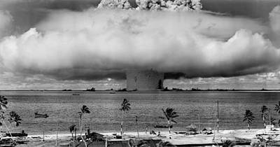 Atomic Photograph - Nuclear Weapon Test - Bikini Atoll by War Is Hell Store