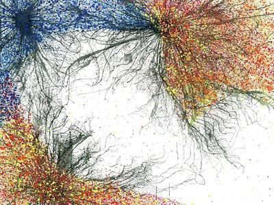 Fireworks Painting - Nucleus Of Souls #206 by Rainbow Artist Orlando L aka Kevin Orlando Lau