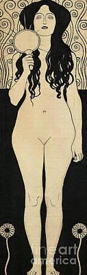 Drawing - Nuda Veritas Or Naked Truth, 1898 by Gustav Klimt