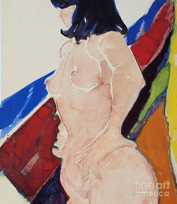 Art Print featuring the painting Nude - Prim  by Diane Ursin