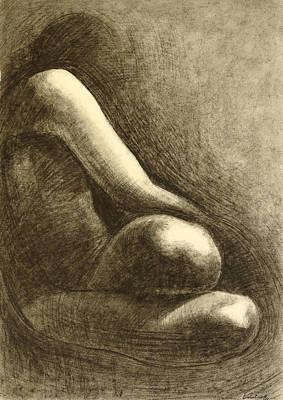 Nude 1 Drawing Figure Art Print