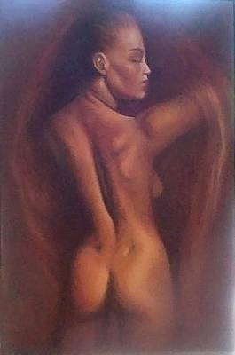 Nude 1 Art Print by Elizabeth Silk
