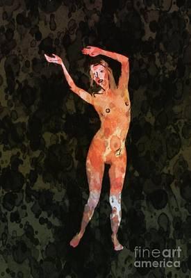 Burlesque Mixed Media - Nude 1 Pop Art By Mary Bassett by Mary Bassett