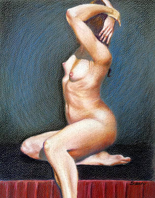 Susan Conner Drawing - Nude #1 by Susan Conner