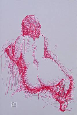 Seated Nude Girl Photograph - Nude 11 by Alan Sanders