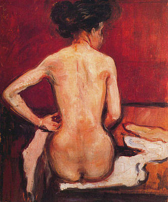 Plump Women Wall Art - Painting - Nude 1896 by Edvard Munch