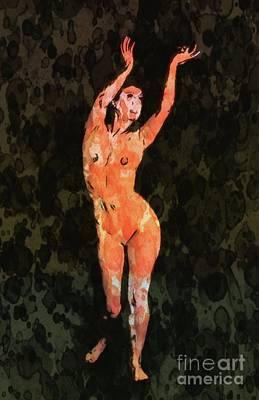 Erotica Mixed Media - Nude 2 Pop Art By Mary Bassett by Mary Bassett