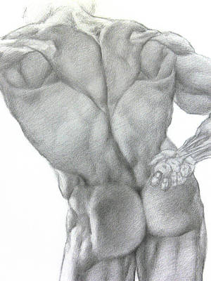 Drawing - Nude 2a by Valeriy Mavlo