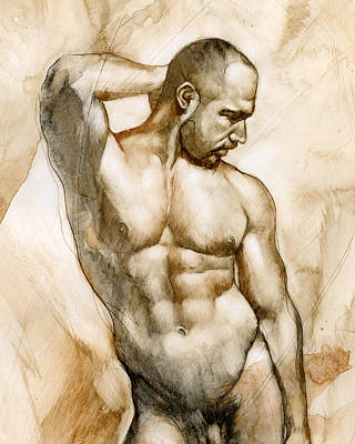 Gay Erotic Art Painting - Nude 46 by Chris Lopez