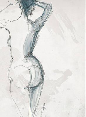 Nude 4a Art Print