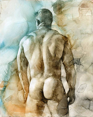 Male Nudes Painting - Nude 51 by Chris Lopez