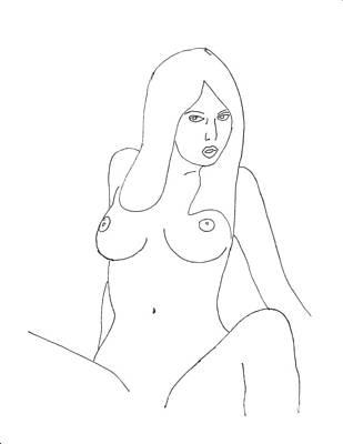 Figurativ Drawing - Nude 81 by Lloyd Bast