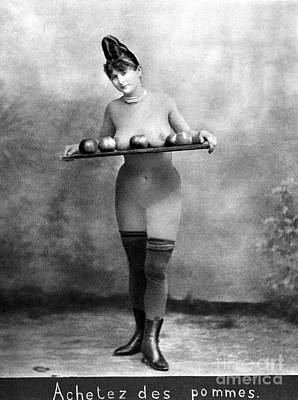 Painting - Nude And Apples, C1880 by Granger