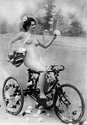 Photograph - Nude And Bicycle, C1900 by Granger