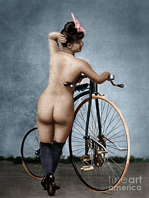 Photograph - Nude And Bicycle by Granger