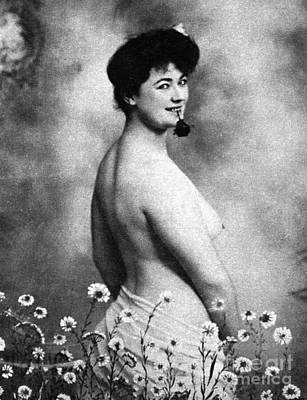 Photograph - Nude And Flowers, 1903 by Granger