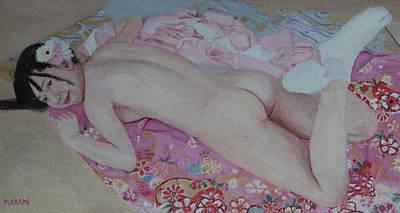 Painting - Nude And Kimono 1 by Masami Iida