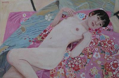 Painting - Nude And Kimono 3 by Masami Iida