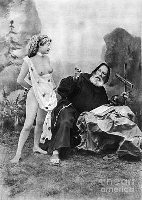 Photograph - Nude And Monk, C1895 by Granger