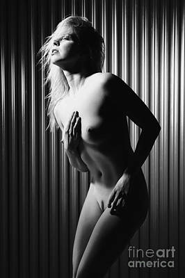 Photograph - Nude And Very Beautiful Woman Posing #7557 by William Langeveld