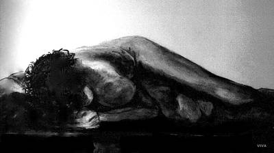 Drawing - Nude As Landscape by VIVA Anderson