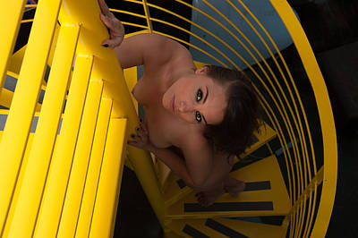 Photograph - Nude Ascending A Staircase by Harry Spitz