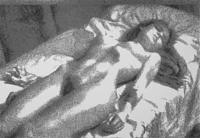 Digital Art - Nude Asleep by Mario Carini