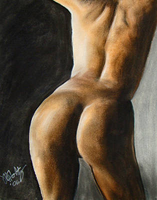 Pastel - Nude Back Study by Michael Foltz