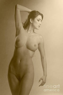 Photograph - Nude Beauty Vintage Look #6333 by William Langeveld