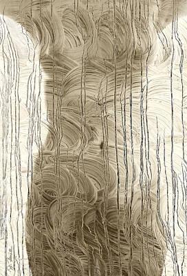 Nude Behind Soaped Window Art Print