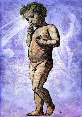 Mixed Media - Nude Boy by Svelby Art
