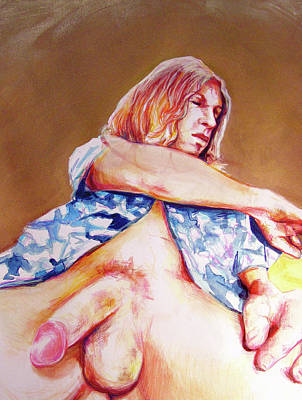 Painting - Nude Boy With Golden Hair  by Rene Capone