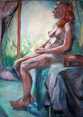 Painting - Nude By The Window by Synnove Pettersen