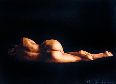 Pyrography - Nude Cristina by Dino Muradian