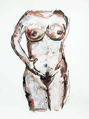 Drawing - Nude by Cristina Stefan