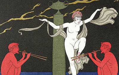 Dervish Painting - Nude Dancer  by Georges Barbier