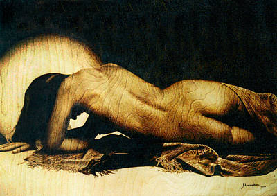 Pyrography - Nude by Dino Muradian