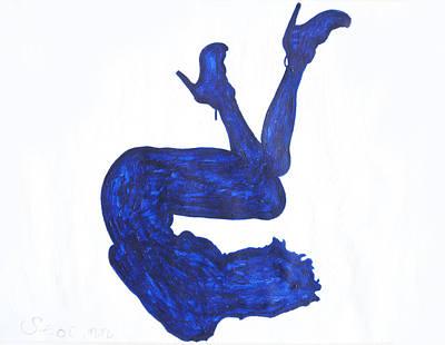Ebony Nude In Heels Original